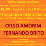 Com Celso Amorim, por um Brasil Soberano