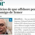 """PF vê """"coronel"""" de Temer como dono de """"offshore"""""""