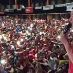 Lula, em Teresina, retoma a voz e fala a multidão