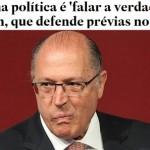 """Alckmin, sobre Dória: """"novo é falar a verdade"""""""