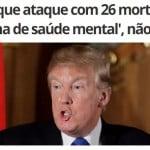 Então, o Bolsonaro não pode distribuir fuzil...