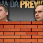 Os 'valentes' Bolsonaro escondem o voto na Previdência