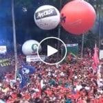 Em São Paulo, praça cheia em solidariedade a Lula. Ao vivo
