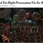 No NY Times: 'leão de esquerda' e provocador disputam a Presidência