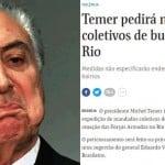 """Mandado de busca coletivo na favela só se for """"pra pobre pode"""""""