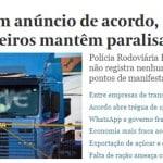 Crise dos caminhoneiros diminui na mídia e segue na estrada