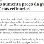 """Novo aumento da gasolina não é """"política de preços"""". É fazer odiar a Petrobras"""