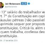 Ofende trabalhador, ignora a lei e vai ser seu vice, Bolsonaro?