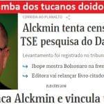 Alckmin sente o golpe e tenta barrar Datafolha