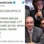 Eduardo Cunha põe a filha na campanha de Bolsonaro