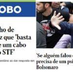 """Bolsonaro: quem quer fechar o STF merece """"psiquiatra"""". O filho falou demais..."""