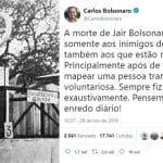O recado sinistro do filho de Bolsonaro