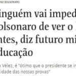 """A """"junta revisional"""" de Bolsonaro no Enem e as células comunistas"""