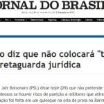 Bolsonaro defende 'excludente de ilicitude'. Moro cederá...