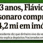 """Flávio Bolsonaro """"explica, mas não se descomplica"""""""