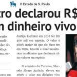 """Ministro do Turismo fazia """"pré-lavagem"""": R$ 400 mil, vivos, em casa"""