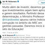 Após arreglo a Bebbiano, Jair lança Moro e Vélez sobre as universidades