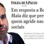 Maia reage e briga com Bolsonaro vira comédia pastelão