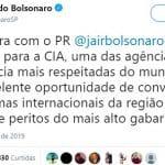 Bolsonaro visita a CIA. A coisa é descarada...
