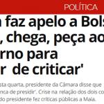 """Virou melodrama: Maia pede """"chega, peça para o entorno parar de criticar"""""""