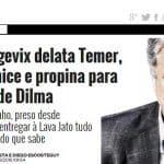 Folha: Curitiba rejeitou delação que agora serve para prender Temer