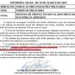 Exército reage à fala de Maia: integralidade e paridade para militares ficam