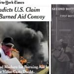 NY Times mostra que 'ajuda humanitária' foi queimada por 'guaidozistas'. Veja