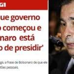 "Maia: ""Bolsonaro está brincando de ser presidente"""