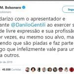 """Bolsonaro e o """"Gentili Livre!"""""""