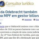 Lula quer acesso a novo acordo EUA-MPF, agora com a Odebrecht