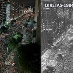 Manifestação no Rio lembra a das Diretas-Já
