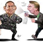 Bolsonaro não freia Olavo e ainda alfineta Santos Cruz