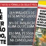 Bolsonaro está fazendo água...