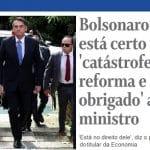 Bolsonaro manobra pelo caos