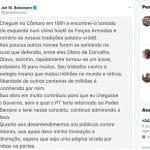 Bolsonaro defende Olavo no Twitter e esbofeteia generais