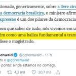 """Greenwald: """"estamos ainda no começo"""""""