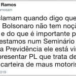 Previdência: presidente de Comissão reclama de Bolsonaro
