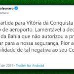 Bolsonaro insinua que Rui Costa o expõe à insegurança na Bahia