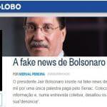 Merval passa recibo a Bolsonaro