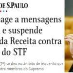 """Decisão de Moraes sobre Receita é 1° precedente da """"Vaza Jato"""""""
