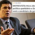 Moro diz que não é candidato e que lugar é de Bolsonaro