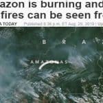 A boca incendiária de Bolsonaro acusa ONGs por queimadas