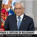 Nem na direita: Piñera rebate Bolsonaro por pai de Bachelet