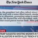 Jacarés e cobras contra imigrantes. Este é o Trump que o Jair ama