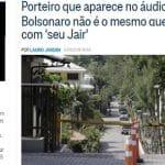 Porteiro errado no álibi dos Bolsonaro