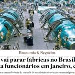 Boeing manda Embraer parar fábricas por um mês