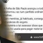O governo não quer ler a Folha, mas quer escrever nela?