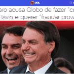 """Não tem """"Noite Feliz"""". Bolsonaro acusa Globo de incriminar """"Carluxo"""""""
