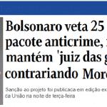 Bolsonaro contraria Moro para se proteger