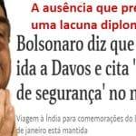 A ausência de Bolsonaro em Davos é uma vitória do Brasil